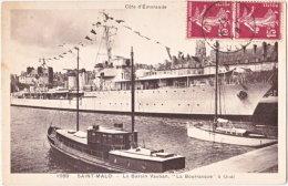 35. SAINT-MALO. Le Bassin Vauban, La Bourrasque à Quai. 1969 - Saint Malo