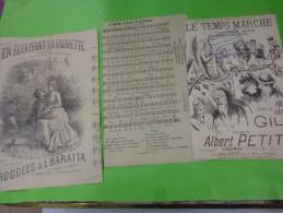 En Ecoutant La Fauvette-aimer C´est Pleurer-le Temps Marche-. - Partitions Musicales Anciennes