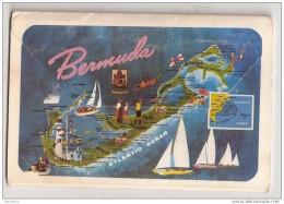 I217 ANTILLES BERMUDA CARNET MULTI VUES 1972 13 VUES TIMBRES - Bermudes