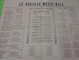 Le Nouveau Music Hall -coeur De Voyou-le Coeur Tzigane.--on Oublie Sa Mere- La Grande Rouge -la Jolie Bohemienne Etc... - Partitions Musicales Anciennes