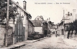 VIC sur AISNE (Aisne), Rue de Fontenoy, 1925, 2 fach frankiert