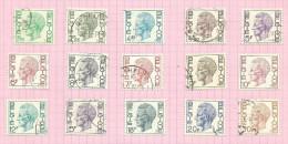 Belgique N°1581 à 1587A Côte 2.25 Euros - Belgium