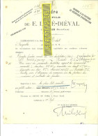62 - Pas-de-calais - CORBEHEM - Facture LEVE-DIEVAL – 1910 - REF 144 - 1900 – 1949