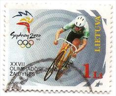 LITHUANIA Sidney 2000 Olimpic Games  Cycling  Used STAMP  (LOT - LT - 034 ) - Summer 2000: Sydney