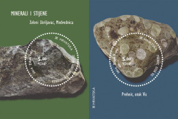 MINERALS AND ROCKS ( Croatian Bloc MNH** ) Minéraux Et Roches Geology Geologie Geologia Mineral Minerales Minerali - Geology