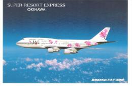 JAL - Japan Airlines - Super Resort Express Okinawa - Boing 747-300 - 1946-....: Modern Era