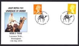 GREAT BRITAIN 2014. SPECIAL POSTMARK. CINEMA MOVIE LAWRENCE OF ARABIA CAMEL - Cinéma