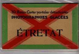 ETRETAT - 10 Belles Cartes Détachables - Photographies Glacées - Très Bon état - Etretat