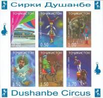 Tajikistan 2004 Mih. 355B/60B (Bl.40B) Dushanbe Circus (imperf) MNH ** - Tajikistan