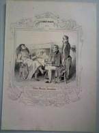 Lithographie Ancienne Les Robert Macaire No 12, ROBERT MACAIRE JOURNALISTE,  Par Daumier. - Lithographies