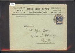 SUISSE - LETTRE HORLOGERIE - MONTRES - ARNOLD JACOT PARATTE - LA CHAUX DE FONDS - Svizzera