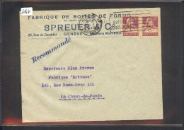 SUISSE - LETTRE HORLOGERIE - MONTRES - SPREUER & Cie - GENEVE - Briefe U. Dokumente