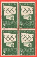 AUS SC #286 B4  1955 Melbourne Olympics (1956) CV $8.00 - 1952-65 Elizabeth II : Pre-Decimals