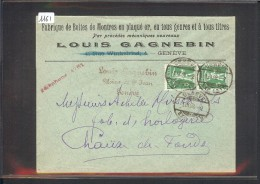 SUISSE - LETTRE HORLOGERIE - MONTRES - LOUIS GAGNEBIN - GENEVE - Briefe U. Dokumente