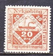 DENMARK  NYKJOBING  SHIP  POST   * - Local Post Stamps
