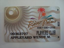 USA - CASINO CARD  - RIVER PALMS