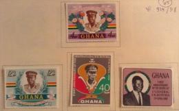 Ghana 1968 Sc 327/330 Yt 315/318 MH - Ghana (1957-...)