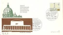 CITTA´ DEL VATICANO, 1982, FDC 36° Convegno Filatelico Roma - Vaticano