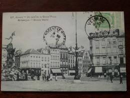 Un Coin De La Grand Place / Groote Markt - Anno 19?? ( Zie Foto Details ) !! - Antwerpen