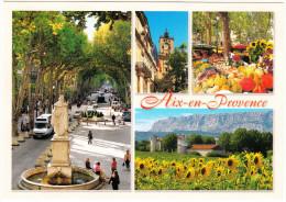 Aix-en-Provence: MERCEDES SPRINTER MINI-AUTOBUS, RENAULT MÉGANE & RENAULT TWINGO - Mirabeau, Tour De L'horloge, Victoire - Voitures De Tourisme