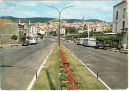 Chatel-Guyon: 2x  PEUGEOT 403, RENAULT 4CV, 3x AUTOBUS/COACH - Avenue De La Gare (Puy-de-Dome) - Voitures De Tourisme