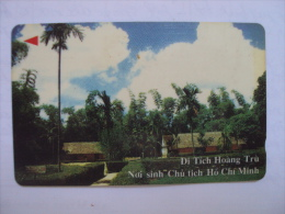 Vietnam Viet Nam Used Magnetic 60000d Phone Card / Phonecard:  Hoang Tru,place That Pres. Ho Chi Minh Was Born /2 Images - Vietnam