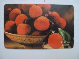 Vietnam Viet Nam Used Magnetic 60000d Phone Card / Phonecard : Fruit / Litchi /02 Images - Vietnam