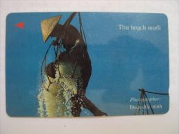 Vietnam Viet Nam Used Magnetic 60000d Phone Card / Phonecard : Salt Exploitation / 02 Images - Vietnam