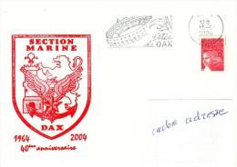 AERONAUTIQUE NAVALE Section Marine DAX Obl. Dax 15/05/04 - Marcophilie (Lettres)