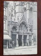 Le Portail De La Collégiale HUY - Anno 1909 ( Zie Foto Details ) !! - Huy