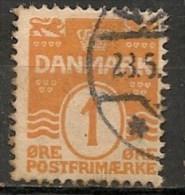 Timbres - Danemark - 1912 - (Frederik VIII) - 1 Ore -  Oblitéré -