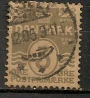 Timbres - Danemark - 1912 - (Frederik VIII) - 3 Ore -  Oblitéré -