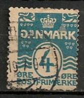 Timbres - Danemark - 1912 - (Frederik VIII) - 4 Ore -  Oblitéré -