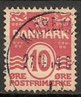 Timbres - Danemark - 1912 - (Frederik VIII) - 10 Ore -  Oblitéré -