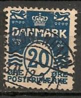 Timbres - Danemark - 1912 - (Frederik VIII) - 20 Ore -  Oblitéré -