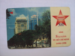 Vietnam Viet Nam Used Magnetic 60000d Phone Card / Phonecard : 300th Anniversary Of Saigon - Ho Chi Minh City/ 02 Images - Vietnam