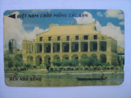 Vietnam Viet Nam Used Magnetic 30000d Phone Card / Phonecard : Ben Nha Rong / 02 Images - Vietnam