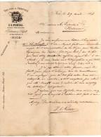 LETTRE DE COMMANDE DE VINS ( DROITS D' ACQUIT )  DE G.L. PORTAL NICE A LALANDE  ET CIE A BORDEAUX - France