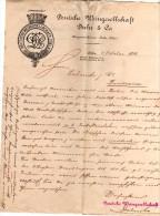 LETTRE DE COMMANDE DE VINS DE DEUTCHE WEINGESELLSCHAFT DUHR & CO A COLN A LALANDE  ET CIE A BORDEAUX - Germania