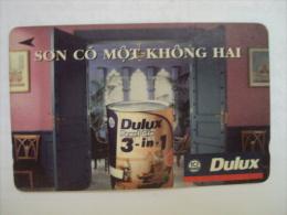 Vietnam Viet Nam Used Magnetic 60000d Phone Card / Phonecard : Dulux Advertisement (3) / 02 Images - Vietnam