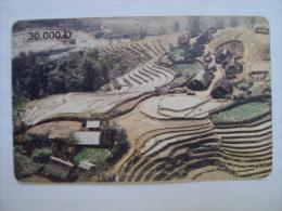 Vietnam Viet Nam Used Chip 30000d Phone Card / Phonecard : Landscape Of Northern Provinces / 02 Images - Vietnam