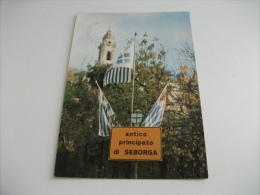 Antico Principato Di Seborga Le Bandiere Campanile Chiesa - Imperia