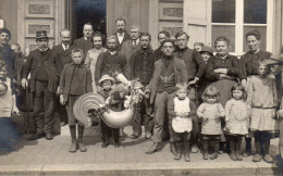 CARTE PHOTO THULIN FAMILLE ASSOCIATION COQ REUNION ANIME GROUPE HAINAUT - Belgium