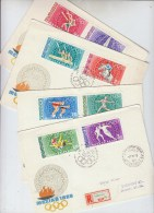 Hungary OLMPIC GAMES 4 FIRST DAY COVERS FDC 1968 - Summer 1968: Mexico City