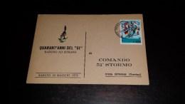 C-18935 CARTOLINA ISTRANA - TREVISO - QUARANT'ANNI DEL 51 RADUNO COMANDO 51'' STORMO - MILITARIA - Treviso