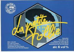 Autocollant-Sticker-La Petite Follie -Bière Brasserie De Silly (brasseur)  Pour Le Vieux Moulin D´Ecaussinnes-Rare- - Affiches