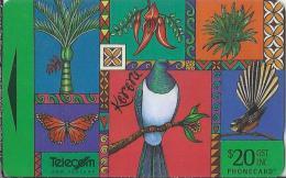 Telefoonkaart.- Nieuw-Zeeland. New Zealand - Native Pacific. Kereru And Kaka Beak. Illustration By Rosanne Sullivan - Nieuw-Zeeland