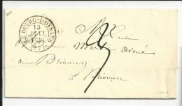 Isère , Le Bourg D´Oysans  , Cachet Type 13 Du 13 Janvier 1838  , Ensemble Très Beau - Postmark Collection (Covers)