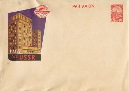 """LETTRE RUSSE U.R.S.S.""""  VISIT THE U.R.S.S. """" Russie Russia Entier Postal Kiev Ukraine - 1923-1991 URSS"""