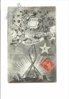 21 - NUITS ST GEORGES La Serrée VERDA STELO 1908 Vigne Vin RAISIN Blason LOTERIA BILETO Outils Escargot Snail LOTERIE - Nuits Saint Georges